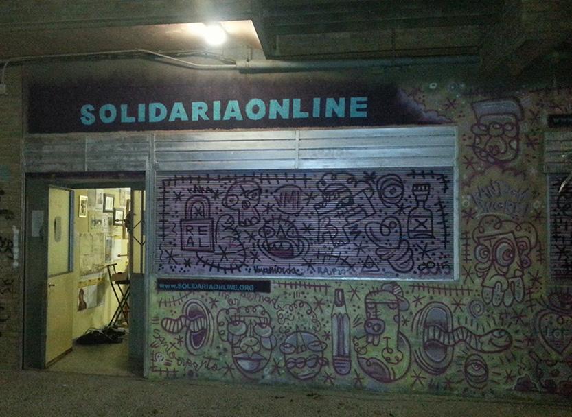 Pintado de fachada de nuestro local solidariaonline - Pintado de fachadas ...